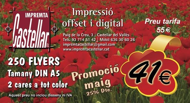 Promoció flyers maig